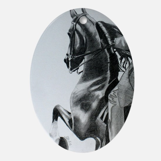 American Saddlebred pencil drawing Oval Ornament