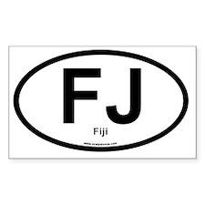 FJ - Fiji oval Decal