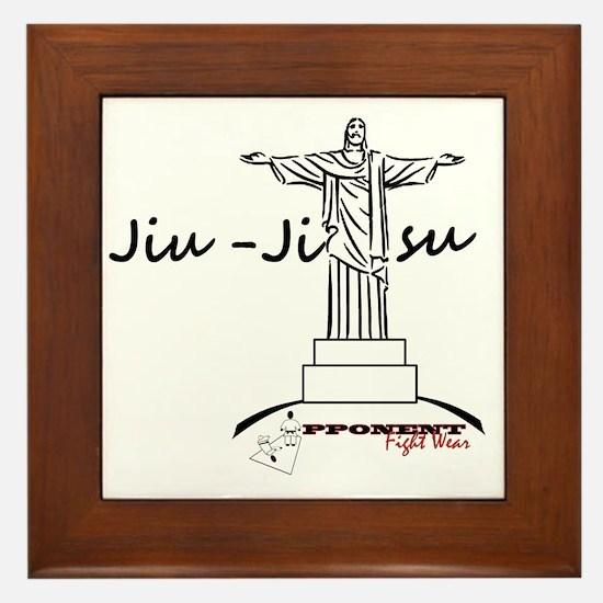 Jiu Jitsu Arms Wide open Framed Tile