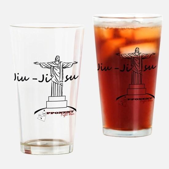 Jiu Jitsu Arms Wide open Drinking Glass