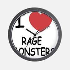 I heart Rage Monsters Wall Clock