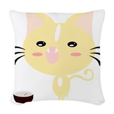 Feed Me! Woven Throw Pillow