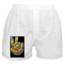 tie-dye-peace-hand-CRD Boxer Shorts