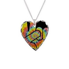 tie-dye-peace-hand-OV Necklace