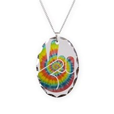 tie-dye-peace-hand-T Necklace
