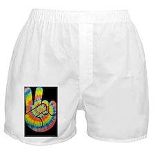 tie-dye-peace-hand-TIL Boxer Shorts