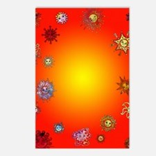 warm suns Postcards (Package of 8)