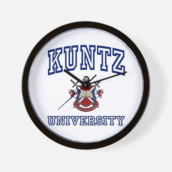 KUNTZ University Wall Clock