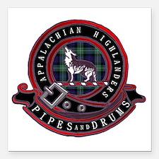 "Appalachian Highlanders  Square Car Magnet 3"" x 3"""