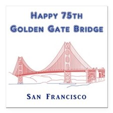 "SanFrancisco_10x10_Happy Square Car Magnet 3"" x 3"""