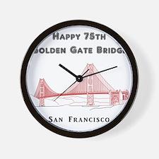SanFrancisco_10x10_Happy75_GGB_LincolnP Wall Clock