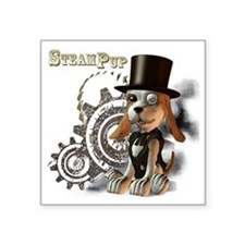 """SteamPup Square Sticker 3"""" x 3"""""""