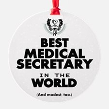 The Best in the World – Medical Secretary Ornament