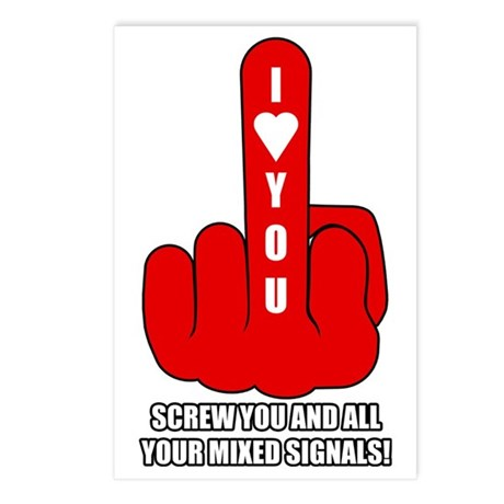 Mixed Signals Postcards (Package of 8)