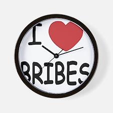 I heart Bribes Wall Clock