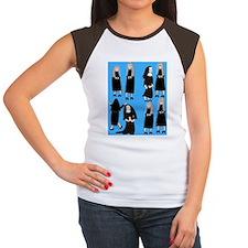 ff nuns 2 blue Women's Cap Sleeve T-Shirt