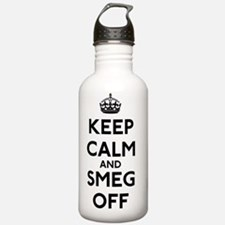 FIN-keep-calm-smeg-off Sports Water Bottle