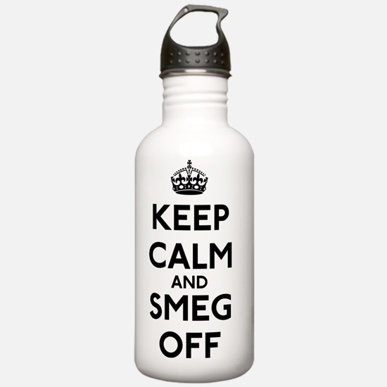 FIN-keep-calm-smeg-off Sports Water Bottle