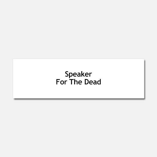 Speaker For The Dead Car Magnet 10 x 3