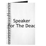 Speaker For The Dead Journal