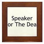 Speaker For The Dead Framed Tile