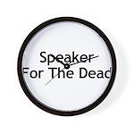 Speaker For The Dead Wall Clock