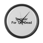 Speaker For The Dead Large Wall Clock