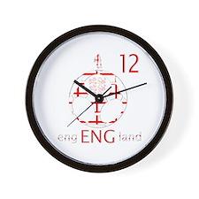 england number 12 football fans design Wall Clock