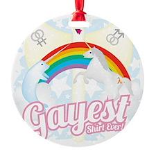 Gayest Shirt Ever Ornament