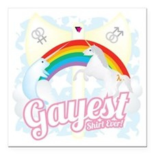 """Gayest Shirt Ever Square Car Magnet 3"""" x 3"""""""