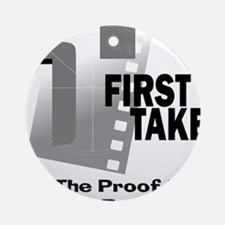 First Take Front Logo Round Ornament