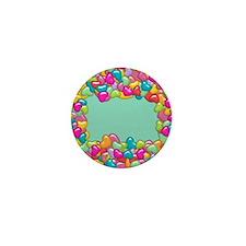 Puffy Hearts Mini Button