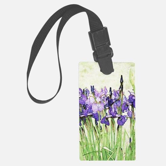 Irises Large Luggage Tag