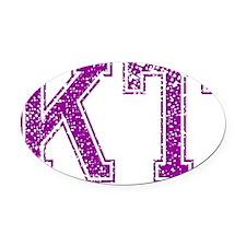 KT, Vintage Oval Car Magnet
