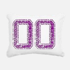 OO, Vintage Rectangular Canvas Pillow