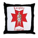The Knights Templar Throw Pillow