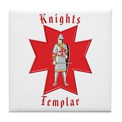 The Knights Templar Tile Coaster