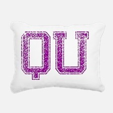 QU, Vintage Rectangular Canvas Pillow