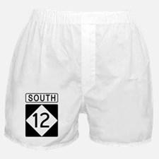 Route 12 South Road Sign Boxer Shorts