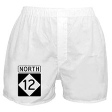 Route 12 North Road Sign Boxer Shorts