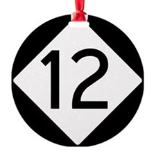 Route 12 Road Sign Ornament