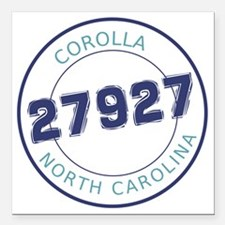 "Corolla, North Carolina  Square Car Magnet 3"" x 3"""