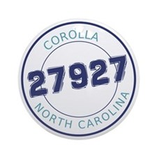 Corolla, North Carolina Zip Code Round Ornament