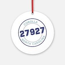 Corolla, North Carolina Zip Code Round Ornament