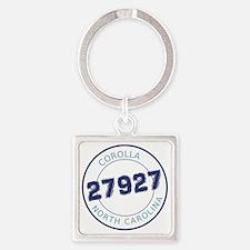 Corolla, North Carolina Zip Code Square Keychain