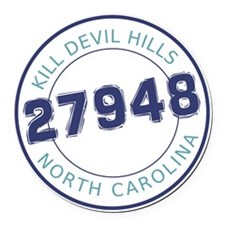 Kill Devil Hills, North Carolina  Round Car Magnet