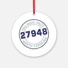 Kill Devil Hills, North Carolina Zi Round Ornament