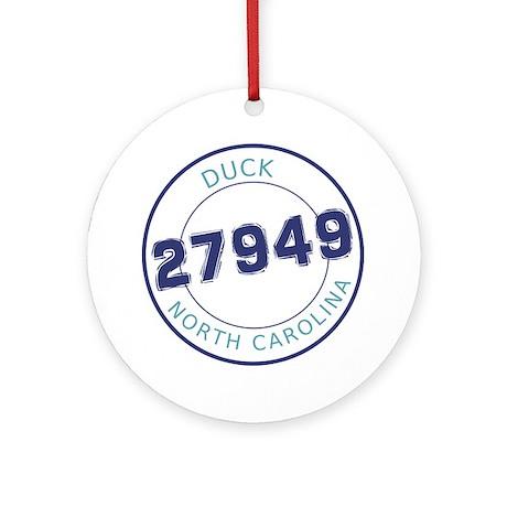 Duck, North Carolina Zip Code Round Ornament