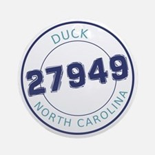 Duck, North Carolina Zip Code Round Ornament