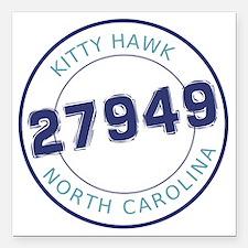 "Kitty Hawk, North Caroli Square Car Magnet 3"" x 3"""